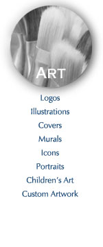 logos, illustrations, covers, murals, icons, portraits, children's art, custom artwork